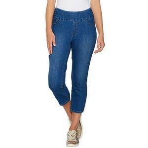 Perfect Denim Smooth Waist Slim Leg Crop Jeans 026